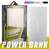 Wholesale adapter power bank resale online - Portable Power Bank mAh Mobile Battery Backup Charger Ultra Thin Dual USB Ports Adapter for Cellphones Tablets PC External Battery