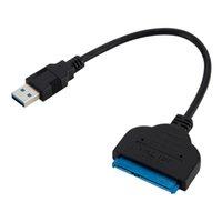 ssd dizüstü bilgisayar sabit diskleri toptan satış-22 Pin USB SATA III USB 3.0 2.5 Inç Sabit Sürücü Adaptör Kablosu Dönüştürücü UASP Için 2.5