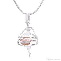 collier de cadeau d'huître achat en gros de-Nouveau Arrivé Danse Fille De Perle Cage Pendentifs Pour DIY Oyster Souhaitez Amour Perle Collier Pendentifs Bijoux Bon Cadeau