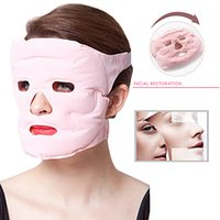 circulação facial venda por atacado-Tourmaline Gel ímã Máscara Facial Beauty Slimming rosto fino Massageador para a circulação sanguínea Facial
