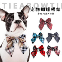 Wholesale small dog collars tags for sale - Group buy Collar Breakaway with Bell Cat Collars Bowtie for Kitty or Small Dog Safety Adjustable Pet Collar Inch Bonus Pet ID Tags and