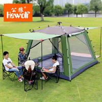ingrosso tenda all'aperto di hewolf-Hewolf Outdoor Tent Enorme 5-8 persone Palo in alluminio Automatico Quick Quick Leisure Park Escursionismo Pesca Spiaggia Tende da campeggio per famiglie