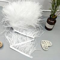 accesorios de plumas de avestruz al por mayor-8-10 cm tela de plumas de avestruz ropa lateral aretes accesorios accesorios color correa de tela de plumas de avestruz EEA519