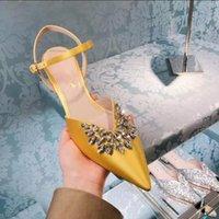 ingrosso tacchi in boemia-Una generazione di sandali della Boemia estate femminile 2019 nuove scarpe da donna tacco a spillo tacco alto a punta di sandali baotou donna