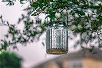 candeeiros de mesa venda por atacado-Solar Mercury frasco de vidro Lights - 2 Lâmpadas de mesa de prata Pacote Lâmpadas de suspensão ao ar livre Indoor para Pátio Jardim Lawn decoração da parede