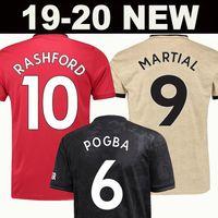 birleşik futbol toptan satış-Tayland FC Manchester United futbol forması soccer jersey football shirt 2019 2020 Pogba Lingard MAGUIRE RASHFORD MARTIAL futbol forması Utd 18 19 20 üniformalar MAN formaları