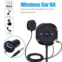 ingrosso vivavoce vivavoce auto bluetooth-BC20 Kit per auto Bluetooth Adattatore per auto Bluetooth Vivavoce stereo senza fili vivavoce con caricatore per auto USB 5V / 2.1A