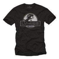 мультфильм оптовых-Прохладный ботаник геймер мужская футболка с инопланетянином-с коротким рукавом VINTAGE MOVIE TEE Cool Slim Fit Letter Printed Top Tee Print