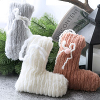 Wholesale hanging drops pendants resale online - Christmas Hanging Pendant Small Cute Plush Knitted Drop Ornaments Christmas Decorations For Home New Year Gift Xmas Supplies