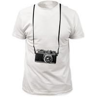 o kamera großhandel-T-Shirt mit Print Kurzarm Großhandel Rabatt O-Neck Mens Tourist Camera T-Shirts