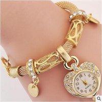 любовь часы наручные часы оптовых-Наручные часы с персиковым браслетом, наручные часы, украшения и часы Love Wristwatch Fengfu Taoxin Steel приносят поверхность браслета