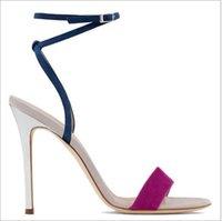sandálias de salto alto venda por atacado-Novo padrão Ultra High Heel Collision Band Sandálias Femininas