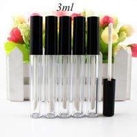 kleine probe lippenstifte großhandel-Hohe Qualität 50 teile / los 3 ml Kunststoff Lipgloss Tube Kleine Lippenstift Tube mit Auslaufsichere Innenprobe Kosmetische Container DIY