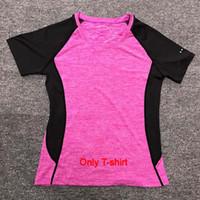 Wholesale women yoga pants resale online - New Yoga Sets sports wear for women gym TShirt Pants Breathable Gym Workout Clothes Compressed Yoga Leggings Sport Suit