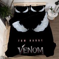 Wholesale 3d printing machine sale resale online - New Venom Quilt Cover Bedding D Printing Four piece Set Hot Sale Sheet Quilt Cover Pillowcase Set