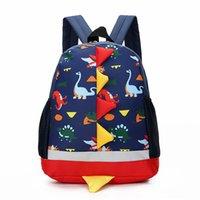 lindos bolsos para niños al por mayor-embroma el morral niños de preescolar bolsos de diseño de dibujos animados lindo del dinosaurio lona casuales del deporte Bolsas de niños bolsos 3-4-6 mochilas para bebés