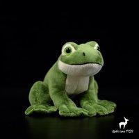 ingrosso rane di vita-Soft Baby Toys Real Life Peluche Animali Toy Frogs Bambole di peluche Giocattoli per bambini presenti