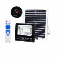 luz de inundación ip67 al por mayor-Edison2011 2019 Nueva versión al aire libre 25W 45W 65W 125W Lámparas solares Indicador LED Luces de inundación Reflector solar con pantalla de carga