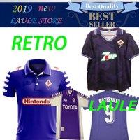 ingrosso calcio d'epoca-1998 1999 2000 Retro Fiorentina Maglie da calcio BATISTUTA RUI COSTA Custom Vintage 92/93 Florence Home Maglia da calcio lunga Camisas de Futebol