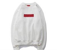 красные дизайнерские мужские толстовки оптовых-Новый пуловер с капюшоном Новый классический вышивка цвета Марк с капюшоном с длинными рукавами мужской свитер дизайнер Red Box Hoodies