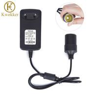 Wholesale 12v dc sockets resale online - Mini A EU US Plug V AC to DC Converter V A Car Cigarette Lighter Transformer Socket Adapter Charger for Car GPS E Dog