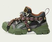 botas us14 venda por atacado-Sapatos casuais Cristais Removíveis HOMENS Das Mulheres Designer de Tênis de Escalada Sapatos Mens botas Ao Ar Livre com Corrente de cristal25632