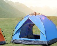 automatisches pop-up campingzelt großhandel-Wurfzelt im Freien automatische Zelte werfen Pop-up wasserdicht Camping Wandern Zelt wasserdichte große Familienzelte