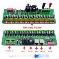 12v dekoder toptan satış-30 kanal DMX 512 RGB LED Şerit Kontrol DMX Dekoder LED DMX Dimmer Sürücü 12 V