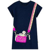 vêtements mignons pour les filles en bas âge achat en gros de-Designer enfants vêtements pour filles robes manches courtes été adorable princesse robe avec de jolies appliques tenue décontractée pour Toddler vêtements