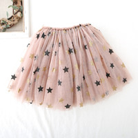 kızlar yıldız tutu etek toptan satış-En Kaliteli Çocuklar Yıldız Tasarım etek dans elbiseler yumuşak tutu elbise bale etek Yumuşak Kız etek