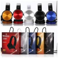 Wholesale earphone wireless mp4 resale online - For Sony MDR XB450BT Foldable Wireless Bluetooth Headphone heavy bass Folding earphone stereo headset with NFC FM support TF card