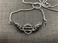 ingrosso sostegno dropship-Braccialetto di cristallo di Dropship Motorcycles Clean Necklace della collana 316L Biker di modo dei monili delle ragazze dei monili della signora dell'acciaio inossidabile