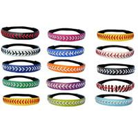 Wholesale headbands u pick for sale - Group buy Softball Headbands U PICK COLOR or Yellow Leather Seam Sport Team