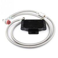 ölkühler großhandel-1Set Durable 85ml Ölkühler Motoröl Cooling Kit Kühlersystem für GY6 100CC-150CC Einfache Motor-Zubehör Installation