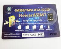 r sim iphone 3g venda por atacado-chip de DHL gratuito Heicard v1.36 Chinasnow Preto Heicardsim7 Gevey SIM para iPhone X, 8,7,6 Unlock Turbo SIM