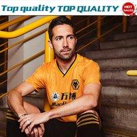 camisa amarilla de manga corta al por mayor-2019 Wolverhampton Inicio camisetas de fútbol amarillas 19/20 Hombres camisetas de fútbol casa Camisetas de manga corta Uniformes de fútbol personalizados En venta