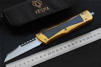 ingrosso coltelli da combattimento migliori-VESPA Coltello da caccia Coltello S35VN lama alluminio + TC4 + CF Maniglia miglior coltello da tasca coltelli sopravvivenza coltello pieghevole tattico