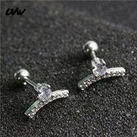 Wholesale tragus jewelry studs resale online - UVW358 pc L Lovely Tiny CZ Geometric Stud Earrings Helix Tragus Piercing Body Jewelry Earrings for Women Pendientes