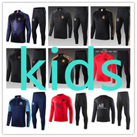 зимние спортивные костюмы мальчиков оптовых-2020 kids tracksuit chándal survêtement France Marseille Paris Saint Germain Jordan Real Madrid FC Barcelona Atletico Madrid Lyon psg