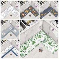 Wholesale pvc room floor mat resale online - 45 cm Home Carpets PVC Floor Rugs For Bedroom Living Room Mats Kitchen Oil proof Pad Bathroom Entrance Waterproof Non slip Mat DBC DH1122