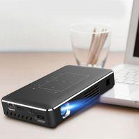 портативный проектор мобильный телефон оптовых-Smart Projector Theater Kit Portable Mini Projector Support IR Wifi 4K HD For Android Mobile Phone
