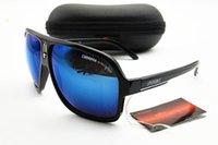 ingrosso andato a pescare-2019 Nuovo Designer moda Anti-UV uomo occhiali da sole Donne Retro all'aperto Vai pesca pilota pilota Occhiali trasparenti blu e Box