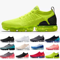 Wholesale max size resale online - 2019 vapors maxes Triple white black red blue Oreo Men Women trainers Sports shoes Sneakers designer Athletic Shoes Size US5