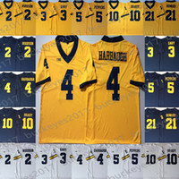 ingrosso jersey kemp-NCAA Michigan Wolverines # 4 Jim Harbaugh 5 Jabrill Peppers 21 Desmond Howard 2 Carlo Kemp White Navy Blue Yellow 2019 Pullover da football