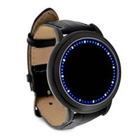Wholesale soft touch watches for sale - Group buy AAAE Blue LED Touch Screen Watch Fashion Unisex Soft Leather Watch Fashion New Ideal For Men Women Sports cool new