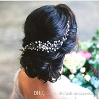 Wholesale bridal head pins resale online - Bridal Hair Ornaments Fashion Hairwear Wedding Hair Accessories Comb for Hair Women Girl Headpiece Headdress Head Decoration Pin
