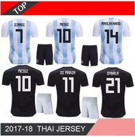 5d6554cfc84 2018 MESSI World Cup Argentina KIDS Kit AGUERO Soccer Jersey ICARDI DI MARIA  KOMPANY DYBALA Higuain Home away jerseys uniforms shirts