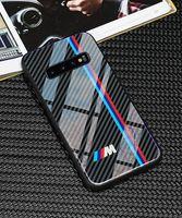 freie galaxie telefone großhandel-Freier Verschiffen VW Golf bmw ausgeglichenes Glastelefon Kasten für Samsung-Galaxie S10 plus Fälle für Audi sline RS Ford Mustang AMG Civic
