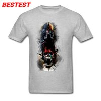 chaqueta muerta caminando al por mayor-2019 camisetas de diseñador para hombre Head Master T shirt Hombres Diseño de Horror Camiseta Walking Dead Skull Camisetas Vintage Gótico Hombre monederos chaquetas