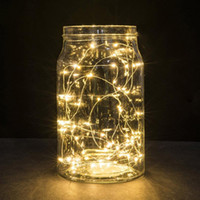 Wholesale battery operated table lamps resale online - 1M String Fairy Bottle Light LED Battery Operated Xmas Party Holiday DIY Lights Wedding Decoration Party Bottle Table Lamp